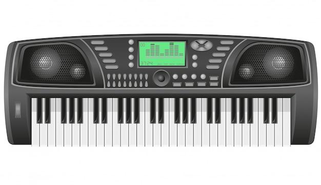 Ilustración de vector de sintetizador