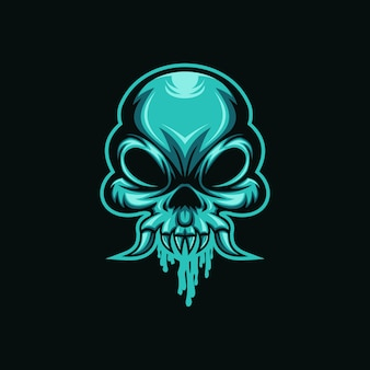 Ilustración de vector de skull monster mucus head