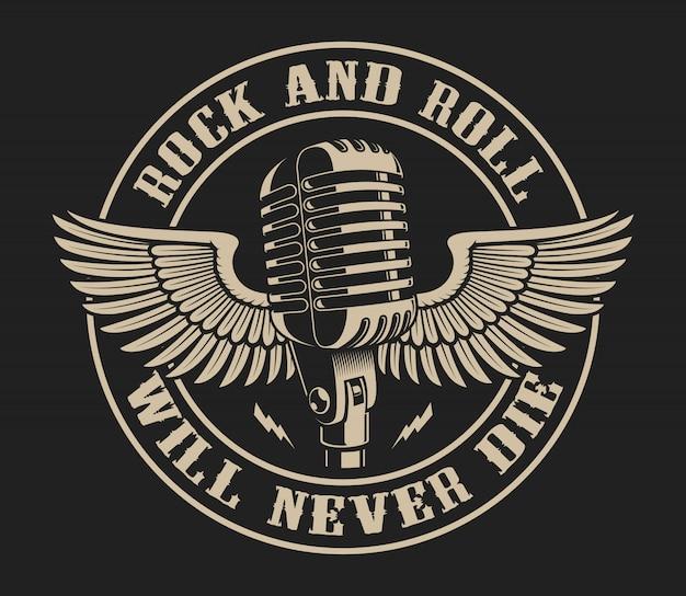 Ilustración de vector sobre el tema del rock and roll
