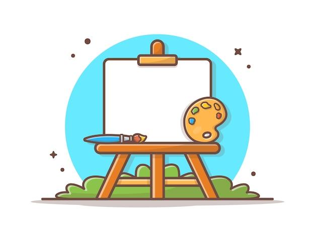 Ilustración de vector de tablero de arte de caballete