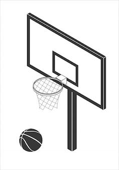 Ilustración de vector de tablero de baloncesto