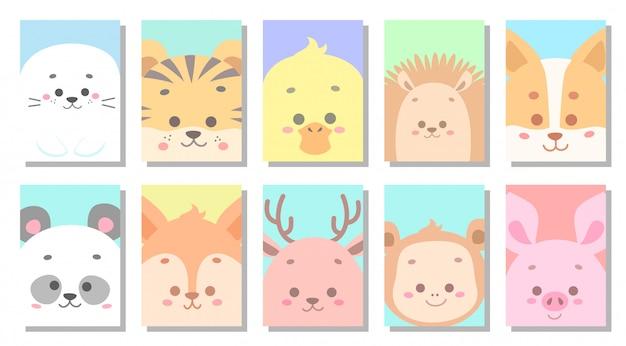 Ilustración de vector de tarjeta de felicitación de bebé lindo bebé
