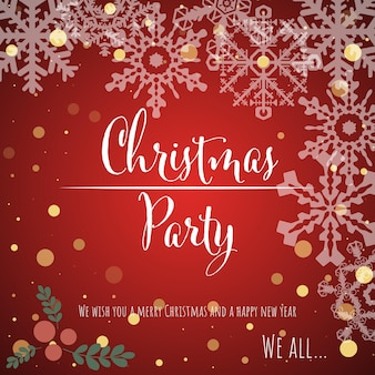 Ilustración de vector de tarjeta de felicitación de fondo de navidad y año nuevo