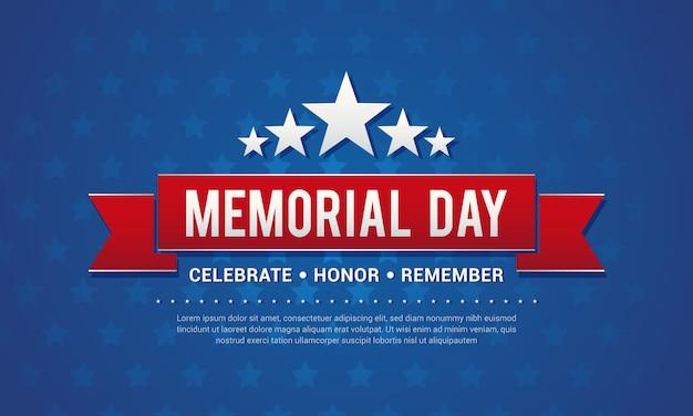 Ilustración de vector de tarjeta de felicitación de memorial day