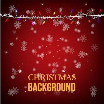 Ilustración de vector de tarjeta de felicitación de navidad.