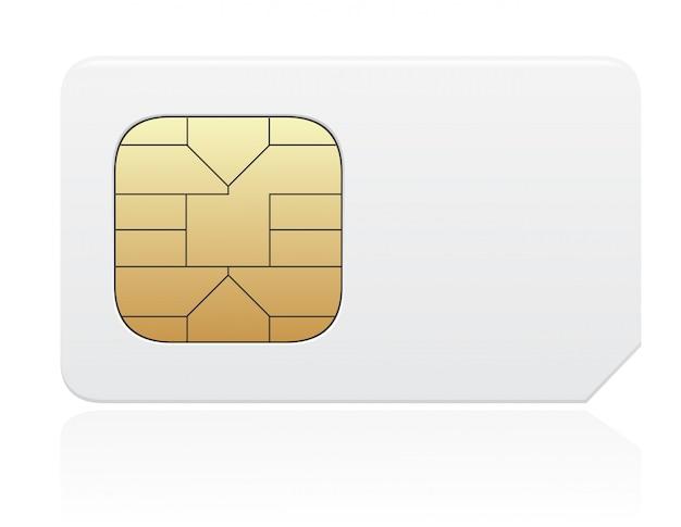 Ilustración de vector de tarjeta sim