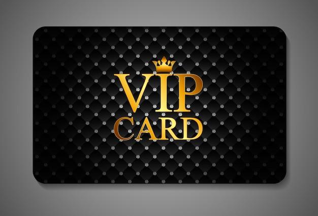 Ilustración de vector de tarjeta vip oscura elegante