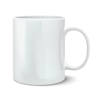 Ilustración de vector de taza blanca realista