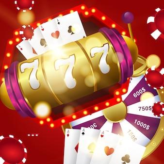 Ilustración de vector en un tema de casino
