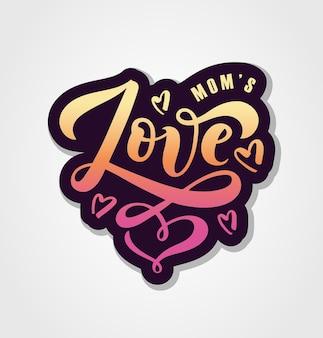 Ilustración de vector de texto de amor para niños ropa de niñas icono de etiqueta de insignia de amor cita inspiradora