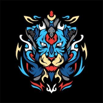 Ilustración de vector de tigre biru