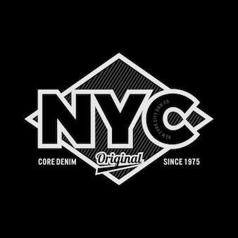 Ilustración de vector de tipografía de diseño de camiseta gráfica de la ciudad de nueva york vector premium