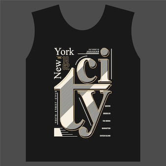 Ilustración de vector de tipografía gráfica de la ciudad de nueva york buena para camisetas estampadas y otros usos