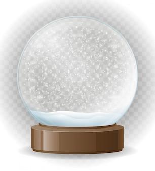 Ilustración de vector transparente de globo de nieve