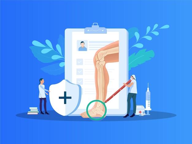 Ilustración de vector de tratamiento de pies