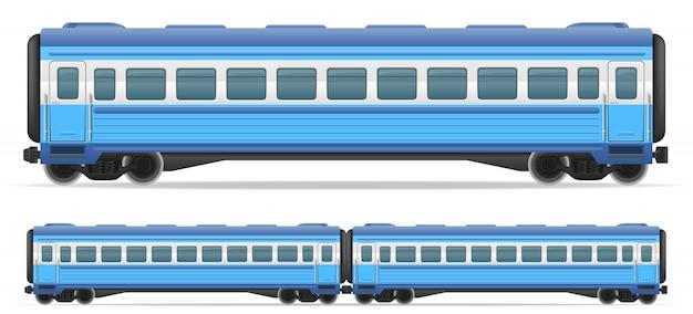 Ilustración de vector de tren de carro de ferrocarril