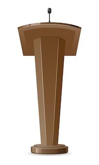 Ilustración de vector de tribuna