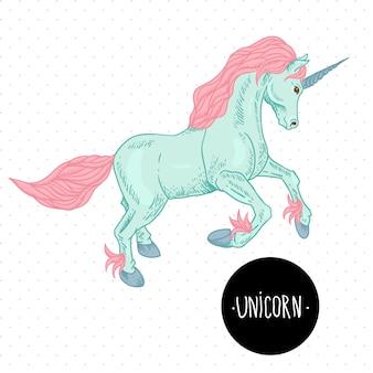 Ilustración de vector de unicornio.