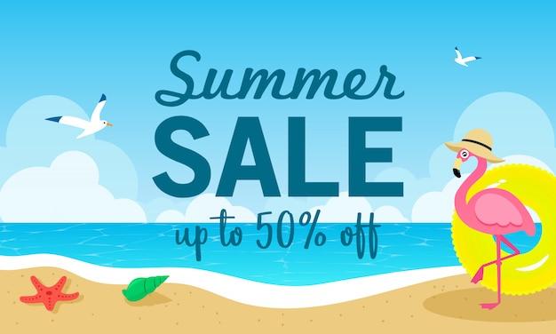 Ilustración de vector de venta de verano