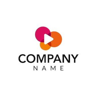 Ilustración de vector de video logo icono