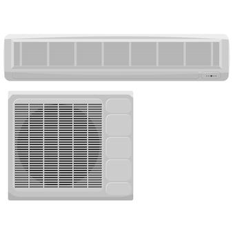 Ilustración vectorial de aire acondicionado moderno sobre un fondo blanco