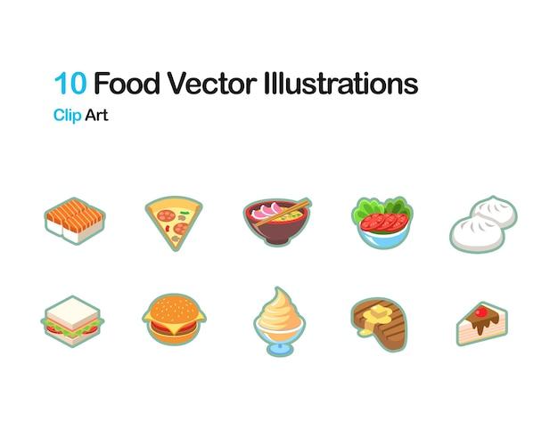 Ilustración vectorial de alimentos