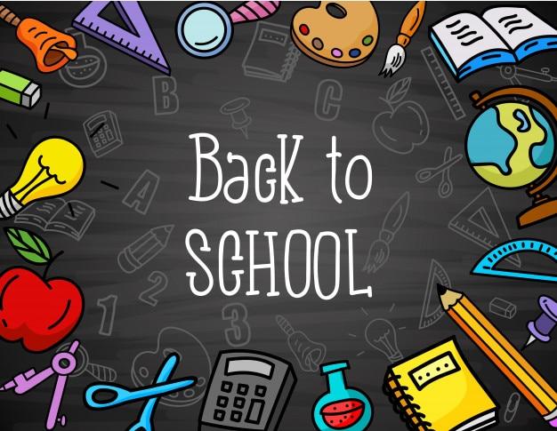 Ilustración vectorial de antecedentes de regreso a la escuela