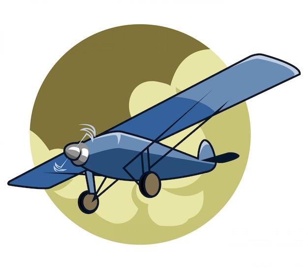 Ilustración vectorial de avión clásico
