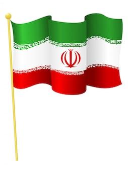 Ilustración vectorial de la bandera de irán