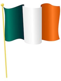 Ilustración vectorial de la bandera de irlanda.