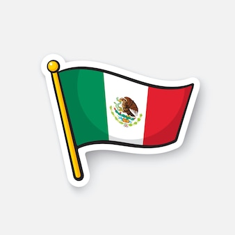 Ilustración vectorial bandera nacional de méxico países de américa latina día de la independencia de méxico