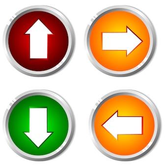 Ilustración vectorial de un botón con el puntero.