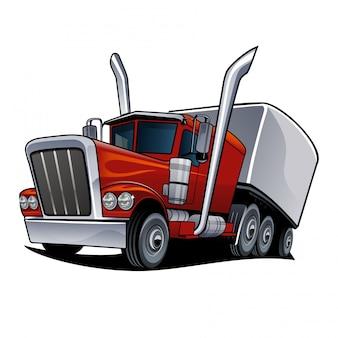 Ilustración vectorial de camión