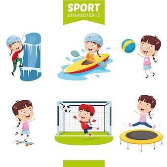 Ilustración vectorial de carácter deportivo