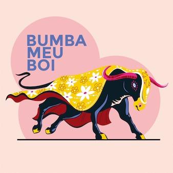 Ilustración vectorial de una celebración tradicional brasileña -