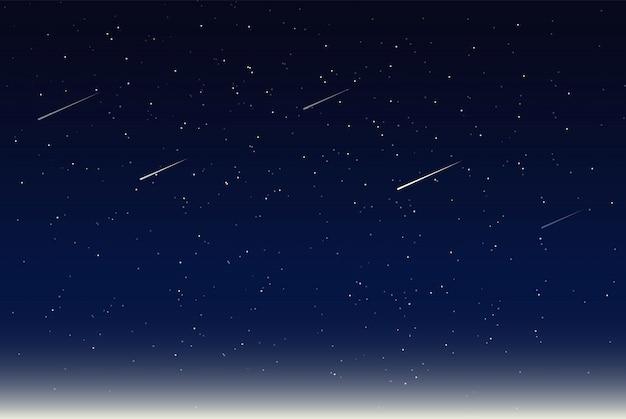 Ilustración vectorial de cielo nocturno