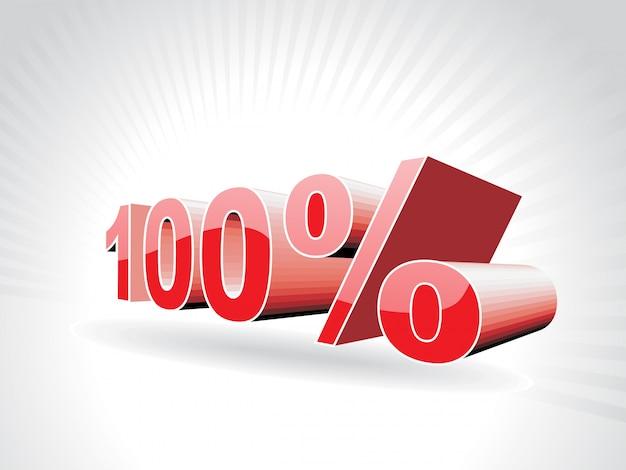 Ilustración vectorial de cien por ciento
