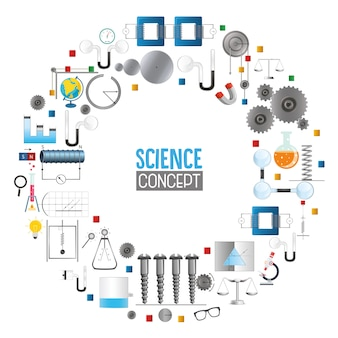 Ilustración vectorial de la ciencia