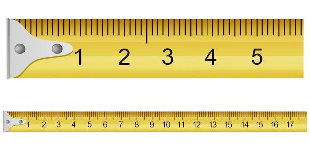 Ilustración vectorial de una cinta métrica