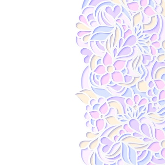 Ilustración vectorial de colorido borde floral