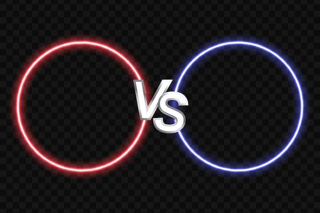 Ilustración vectorial colorido de dos formas redondas sobre fondo negro