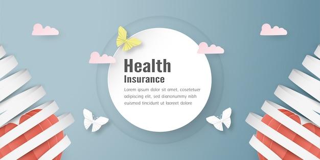 Ilustración vectorial en concepto de seguro de salud.