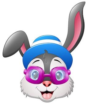 Ilustración vectorial de conejos hipster
