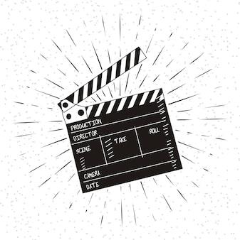 Ilustración vectorial de conjunto de película clapper
