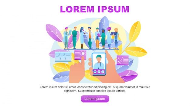 Ilustración vectorial consulta online médico