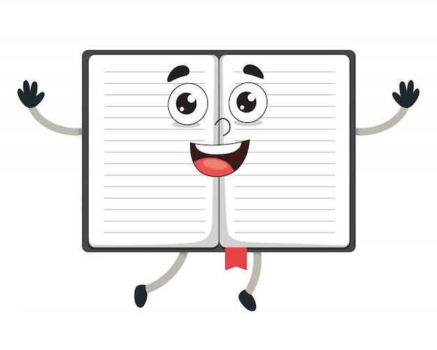 Ilustración vectorial de cuaderno de dibujos animados