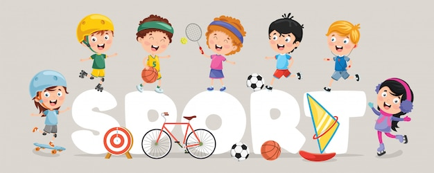Ilustración vectorial del deporte infantil
