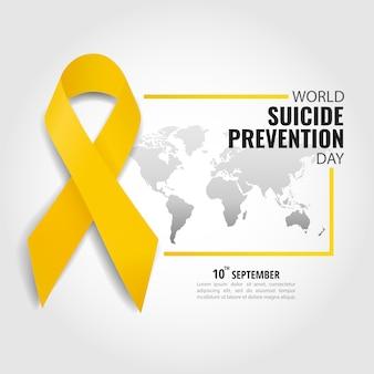 Ilustración vectorial del día mundial de prevención del suicidio