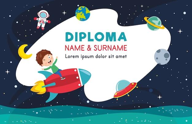 Ilustración vectorial de diploma