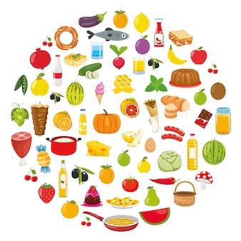Ilustración vectorial de diseño de concepto de alimentos